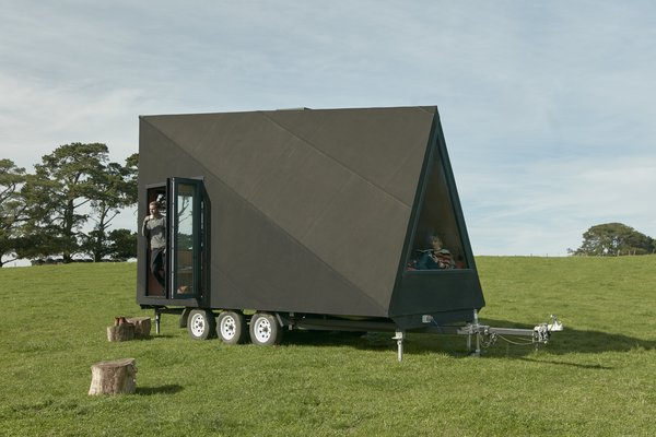 The Base Cabin draws its design inspiration from the A-frame cabin.