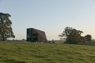 A matte black rubber exterior allows the structure to blend into its surroundings.