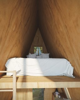 In the Bunk Cabin's lofted area sleeps two.