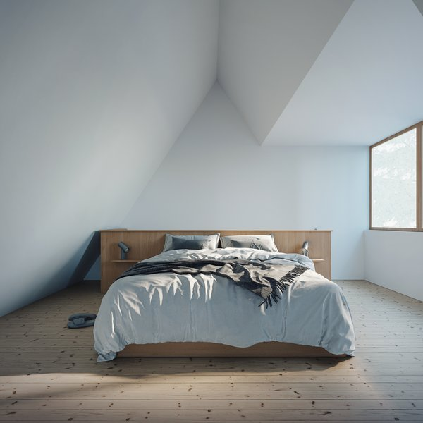 Upstairs in the loft, an open and airy space can sleep more.