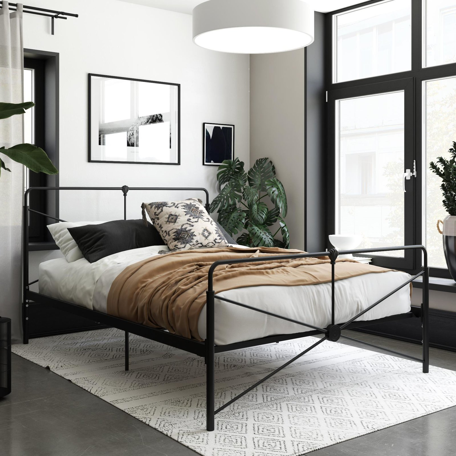 At $189, the Leopold Metal Bed is the fab fivesome's nod to the classic brass bed, but with a thin black frame the Queer Eye team has added their own modern spin.  Photo 5 of 7 in Queer Eye's New Furniture Collection Is the Best Thing You Can Buy at Walmart