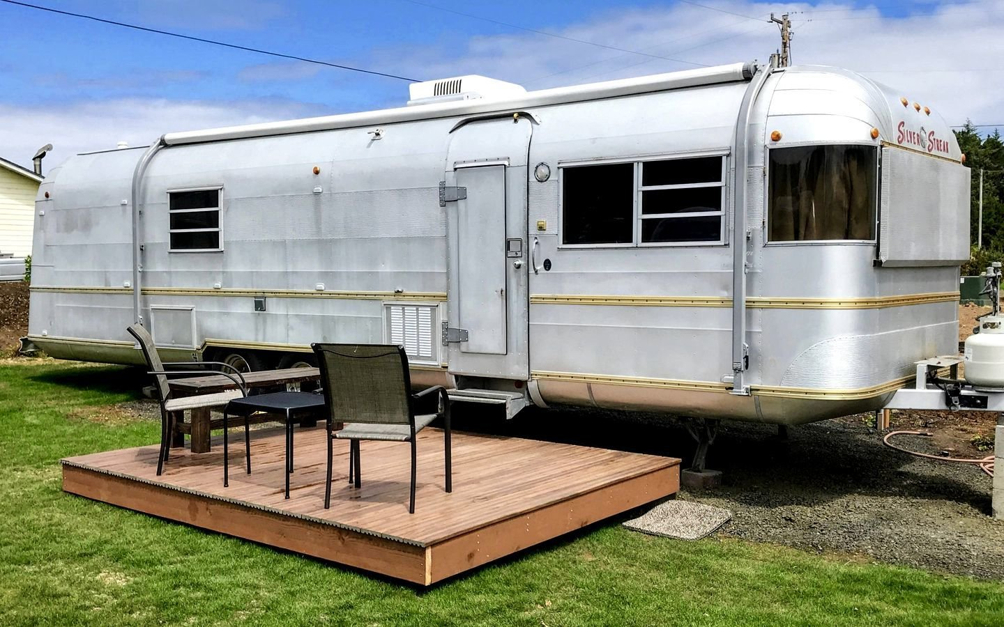 The beach is just a five-minute walk from this vintage Silver Streak.  Photo 5 of 18 in 17 Kick-Ass Campers and Trailers You Can Rent From $45 a Night