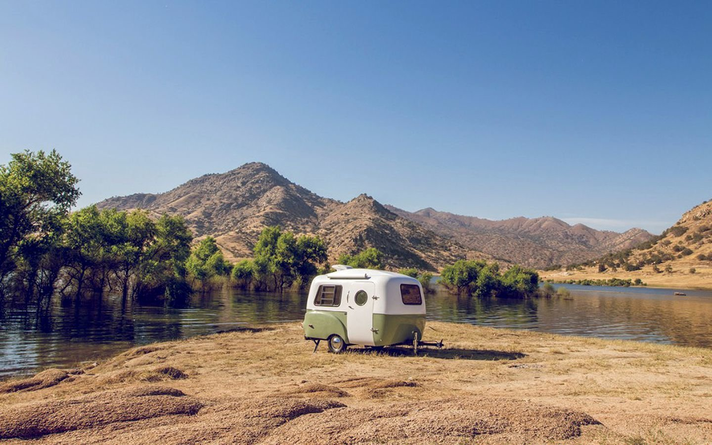 Happier Camper's retro-inspired trailers are ultra-light and can be towed by any vehicle.  Photo 7 of 18 in 17 Kick-Ass Campers and Trailers You Can Rent From $45 a Night