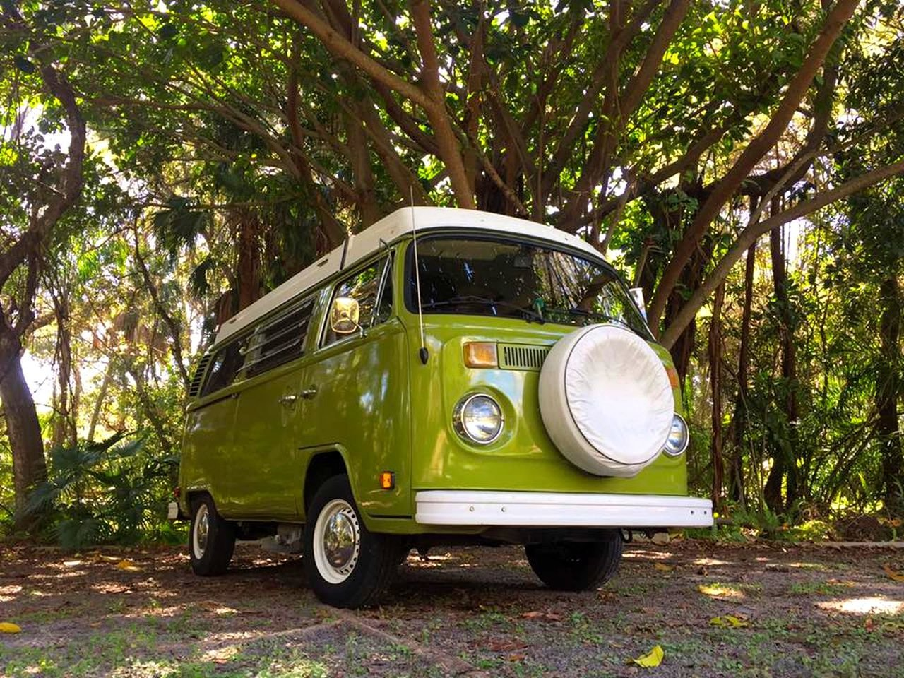 With plaid and wood interiors and funky exterior colors, this fleet of '70s era VW caravans is the way to see Florida.  Photo 8 of 18 in 17 Kick-Ass Campers and Trailers You Can Rent From $45 a Night