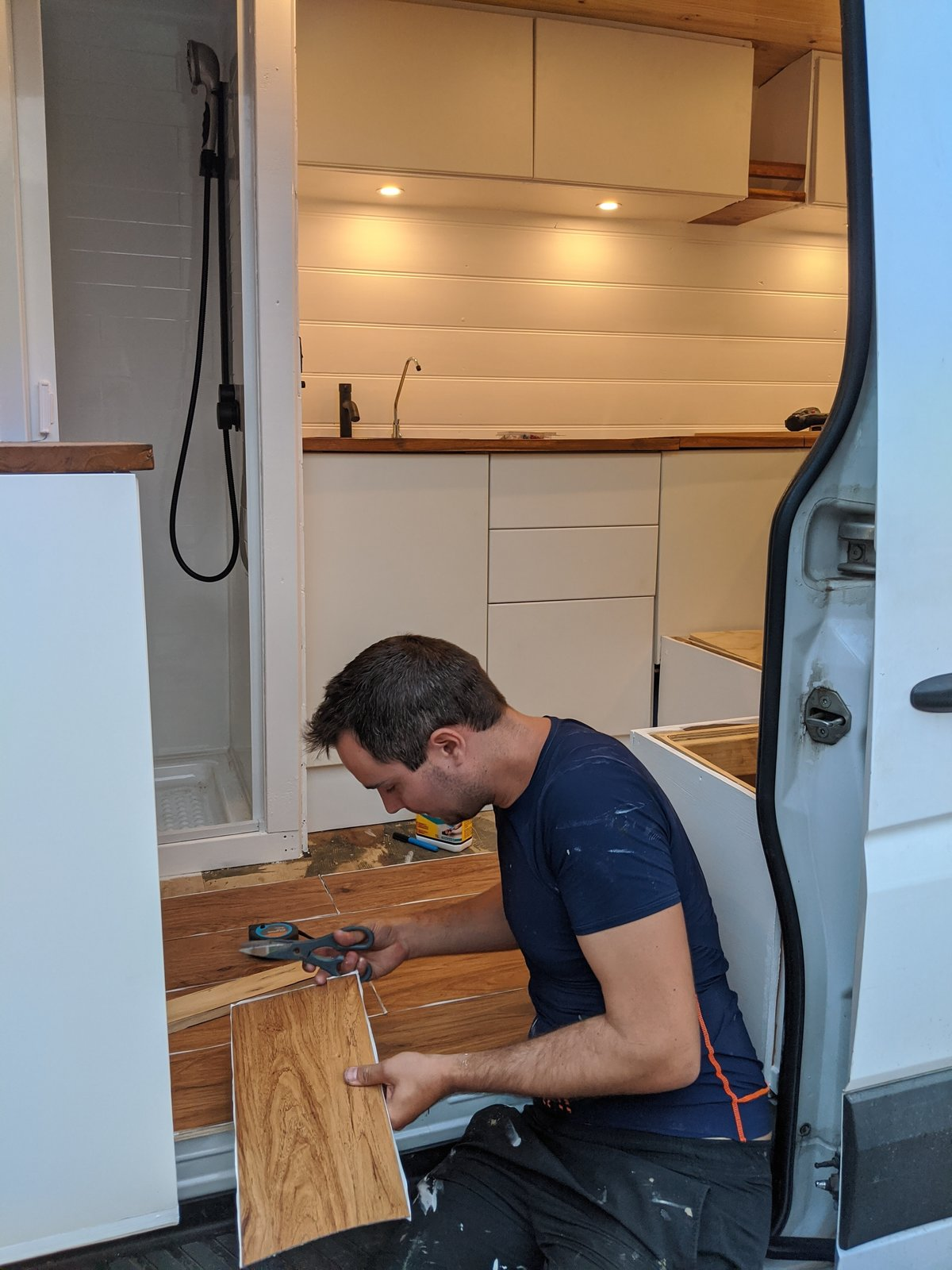 Ben Raffi renovating a Mercedes Sprinter
