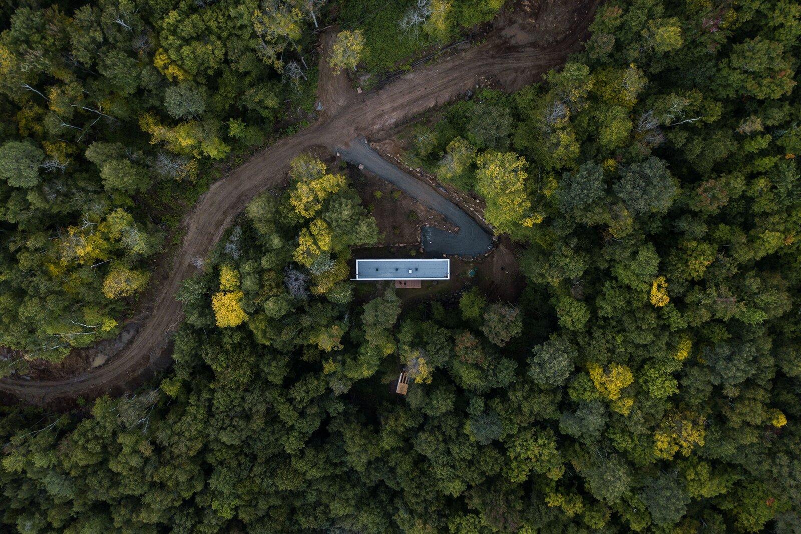 Hinterhouse aerial view
