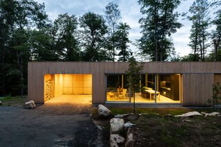 The cabin thoughtfully blends aesthetics from Japanese design and Scandinavian minimalism.