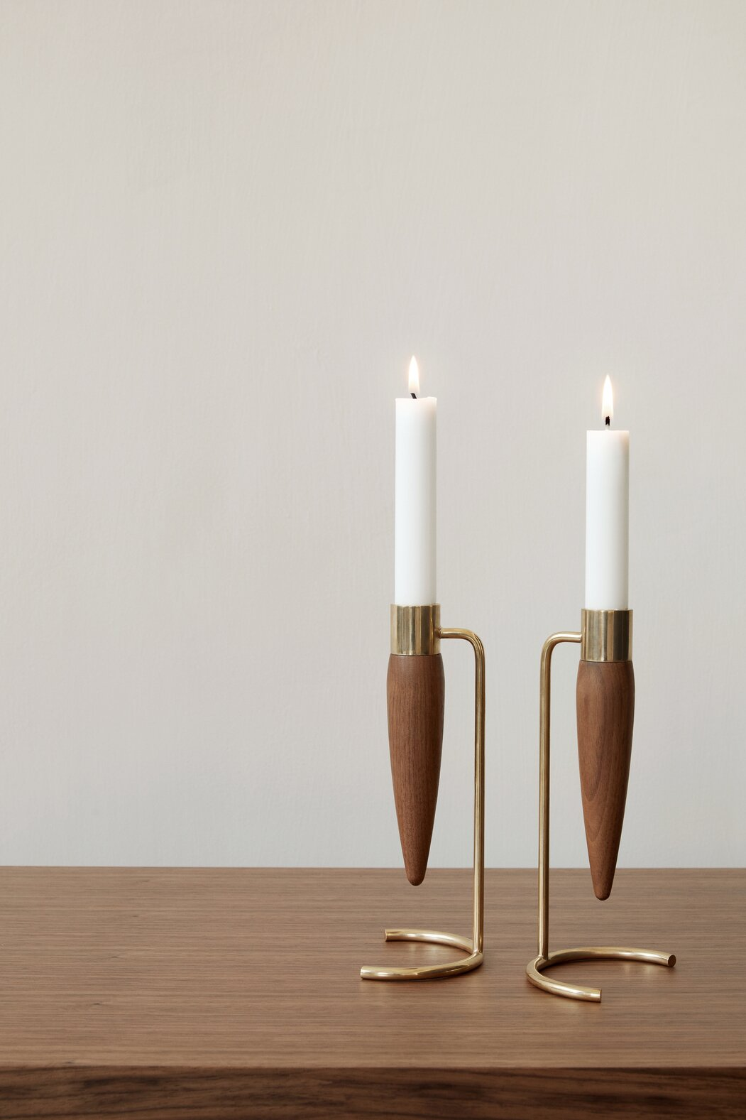 Arthur Umanoff candle holders by MENU