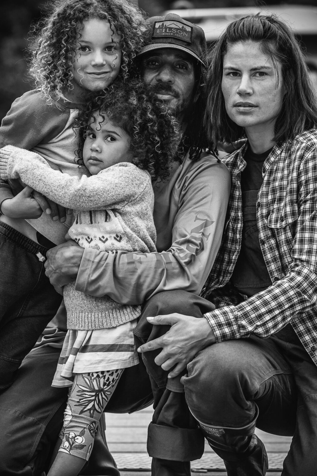 In the 27-foot trailer, Kina and his wife Nellie are working remotely and homeschooling their two kids, Ashur and Story.  Photo 3 of 7 in A Former Pro Skier and His Family of Four Embrace the New Normal in Their Airstream