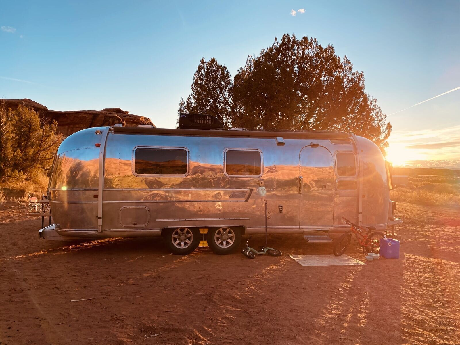 When the pandemic took hold in the U.S. the family of four was already on the open road.  Photo 4 of 7 in A Former Pro Skier and His Family of Four Embrace the New Normal in Their Airstream