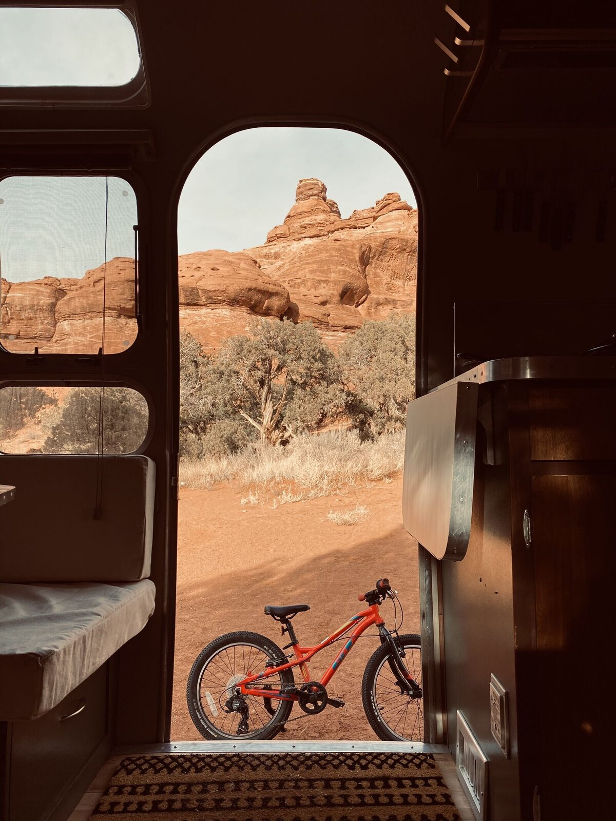 When space feels tight, the great outdoors awaits this adventurous family.  Photo 5 of 7 in A Former Pro Skier and His Family of Four Embrace the New Normal in Their Airstream