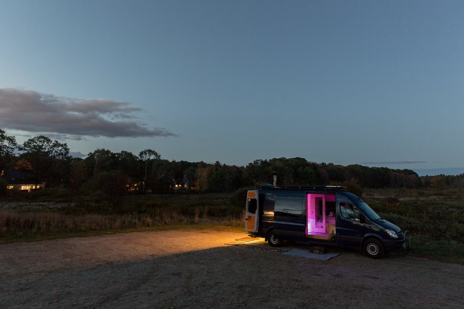 The sauna van is powered by a 115-watt PV solar panel mounted on the roof, along with Victron Energy AGM batteries. And the sauna heater is Karhu.  Photo 11 of 11 in Missing the Spa? This Converted Mercedes Sprinter Can Bring the Sauna to Your Doorstep