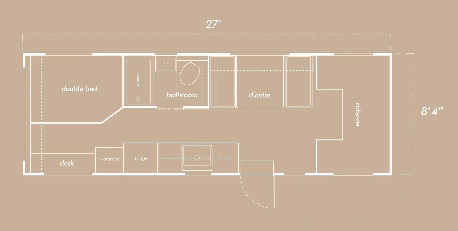 Jayco Motor Home Renovation Floor Plan