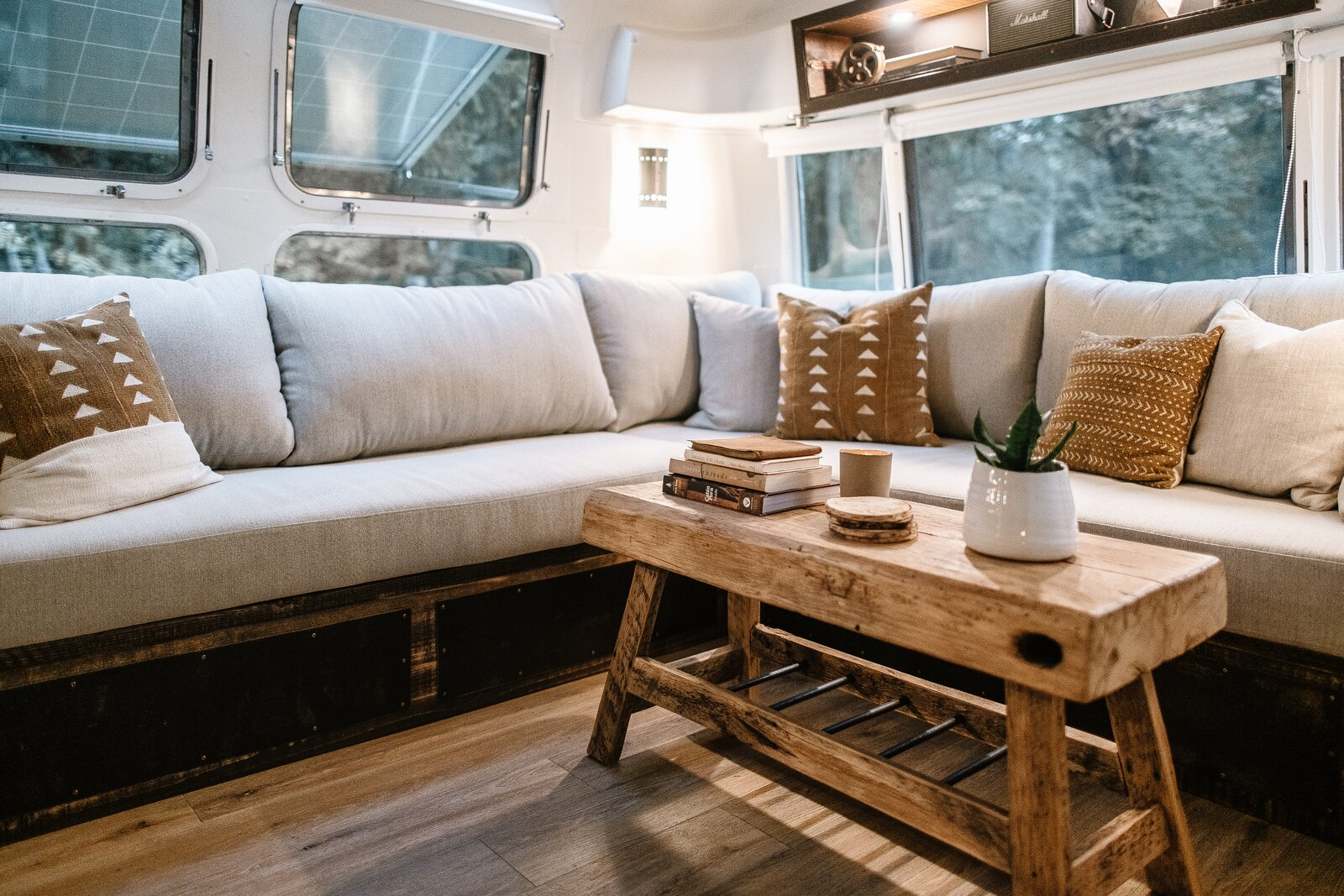 Cortes the Airstream living area