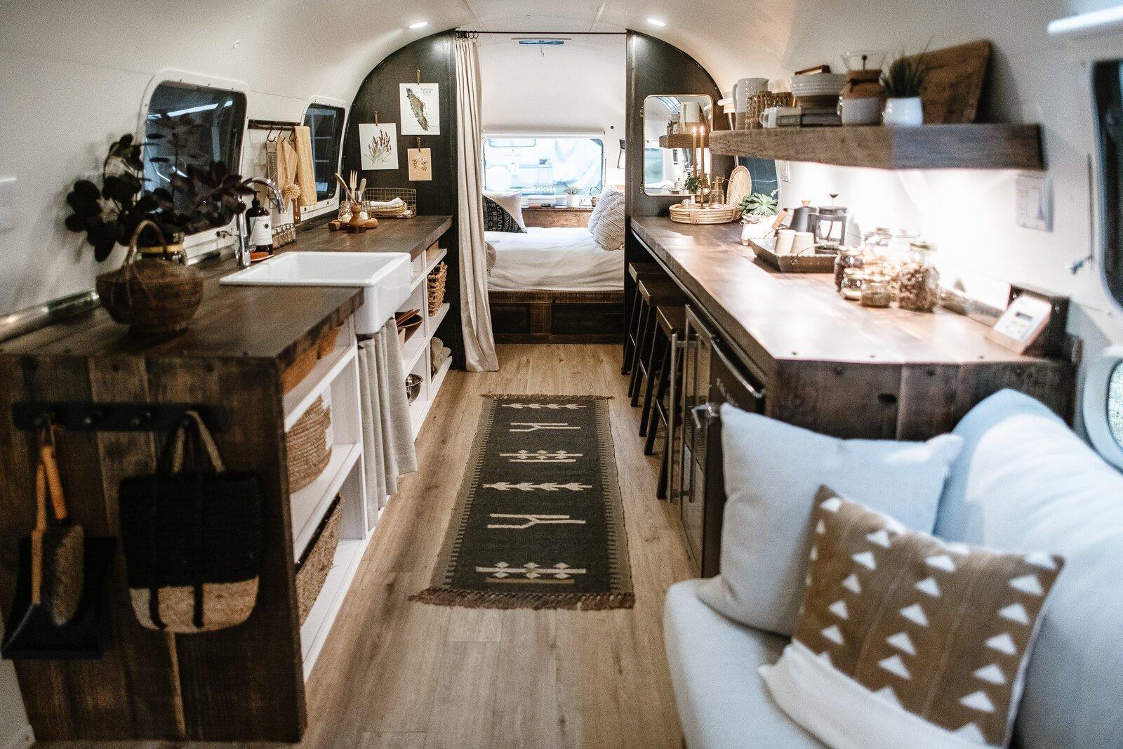 Cortes the Airstream interior