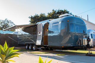 The 34-foot-long Airstream Excella was gutted and renovated by Innovative Spaces in Santa Barbara, California.