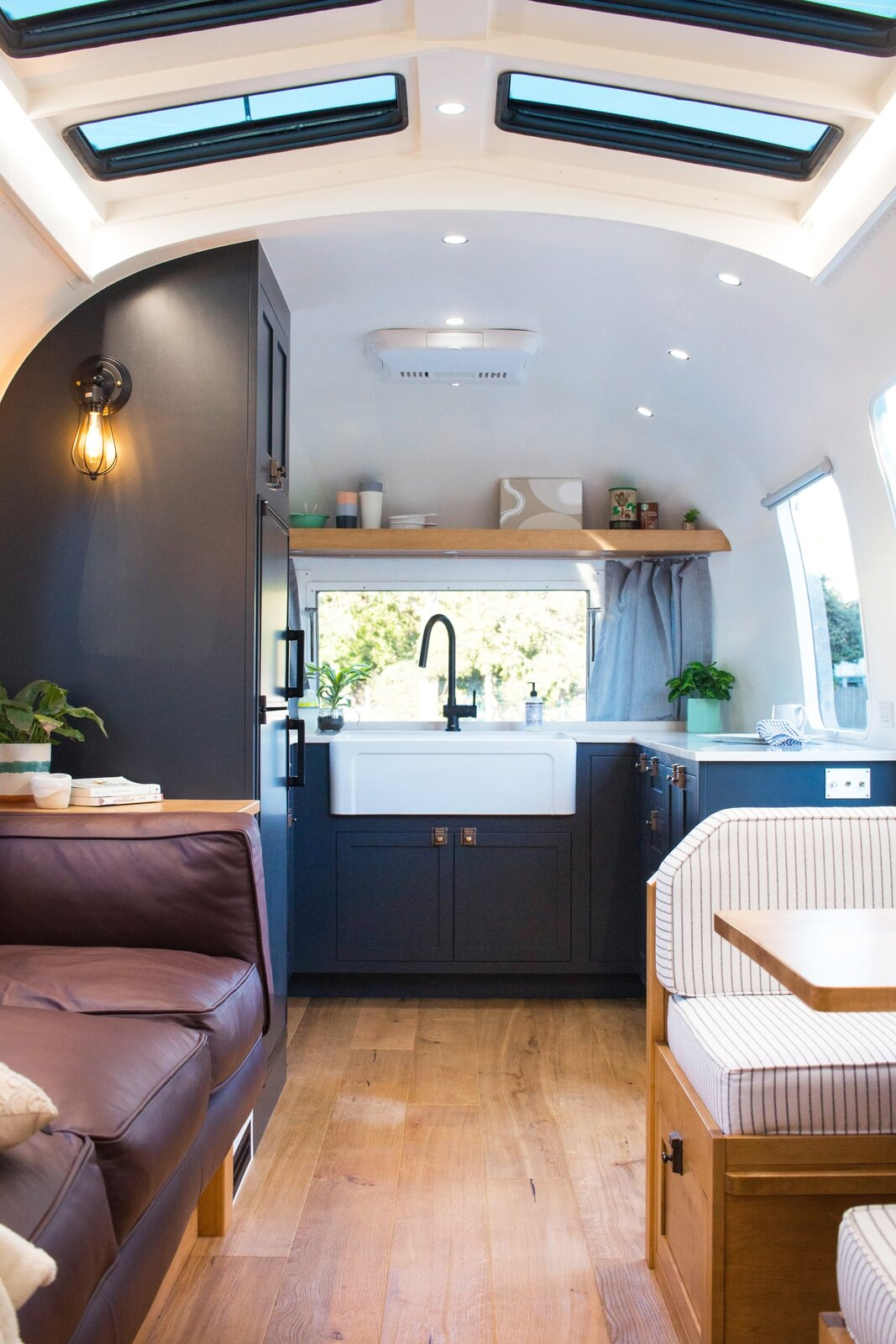 Driftwood Airstream kitchen