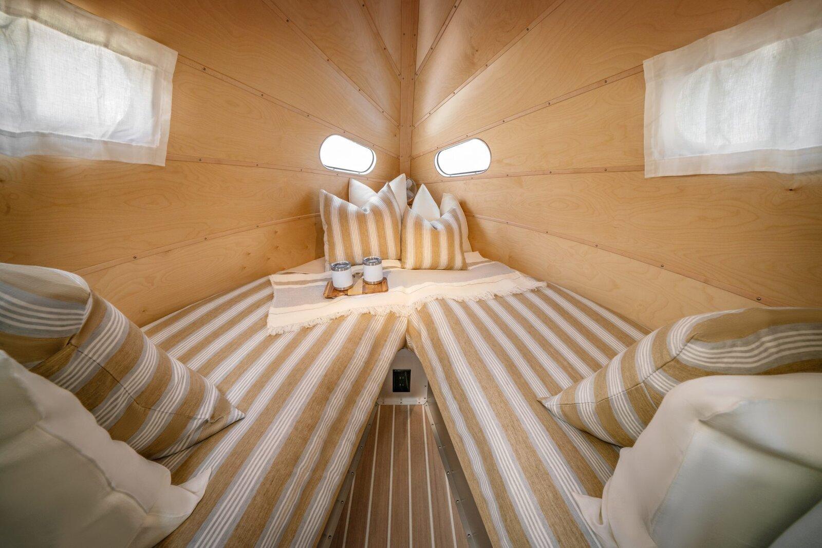 Bowlus Travel Trailer bedroom