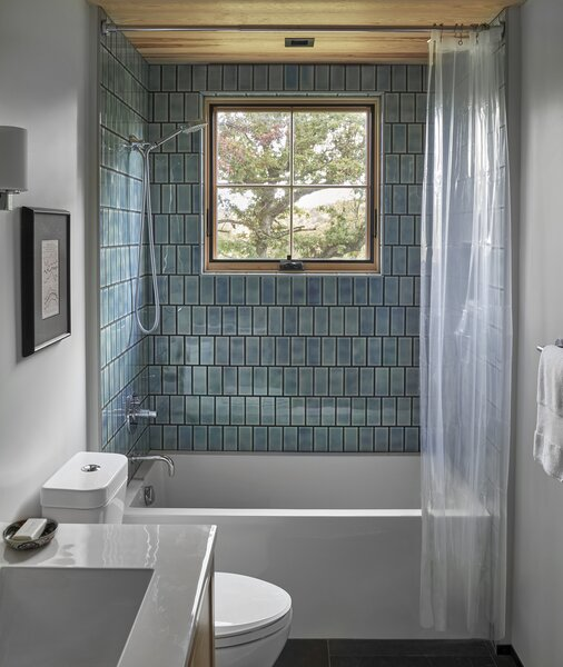 Paying homage to the husband's family's tile business, employing distinct tile was one way the couple added a special touch to their vacation home.