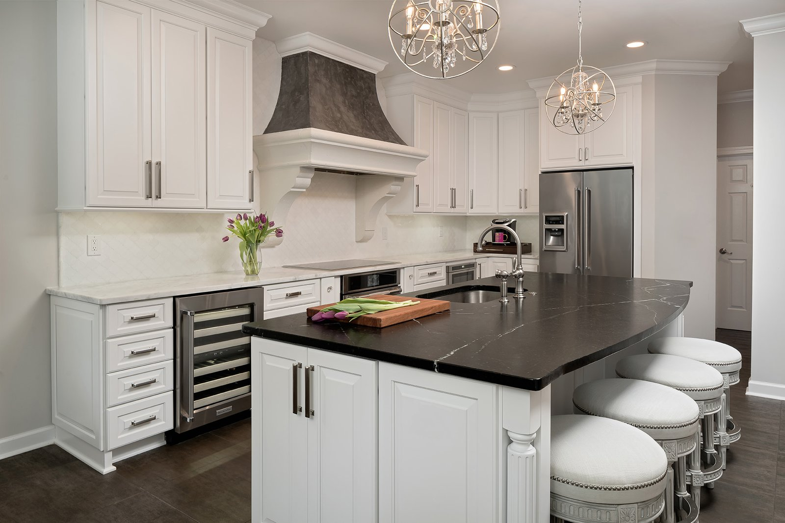 Delicieux Chic Black And White Kitchen In Charlotte, NC