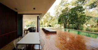 Wooden deck and pool