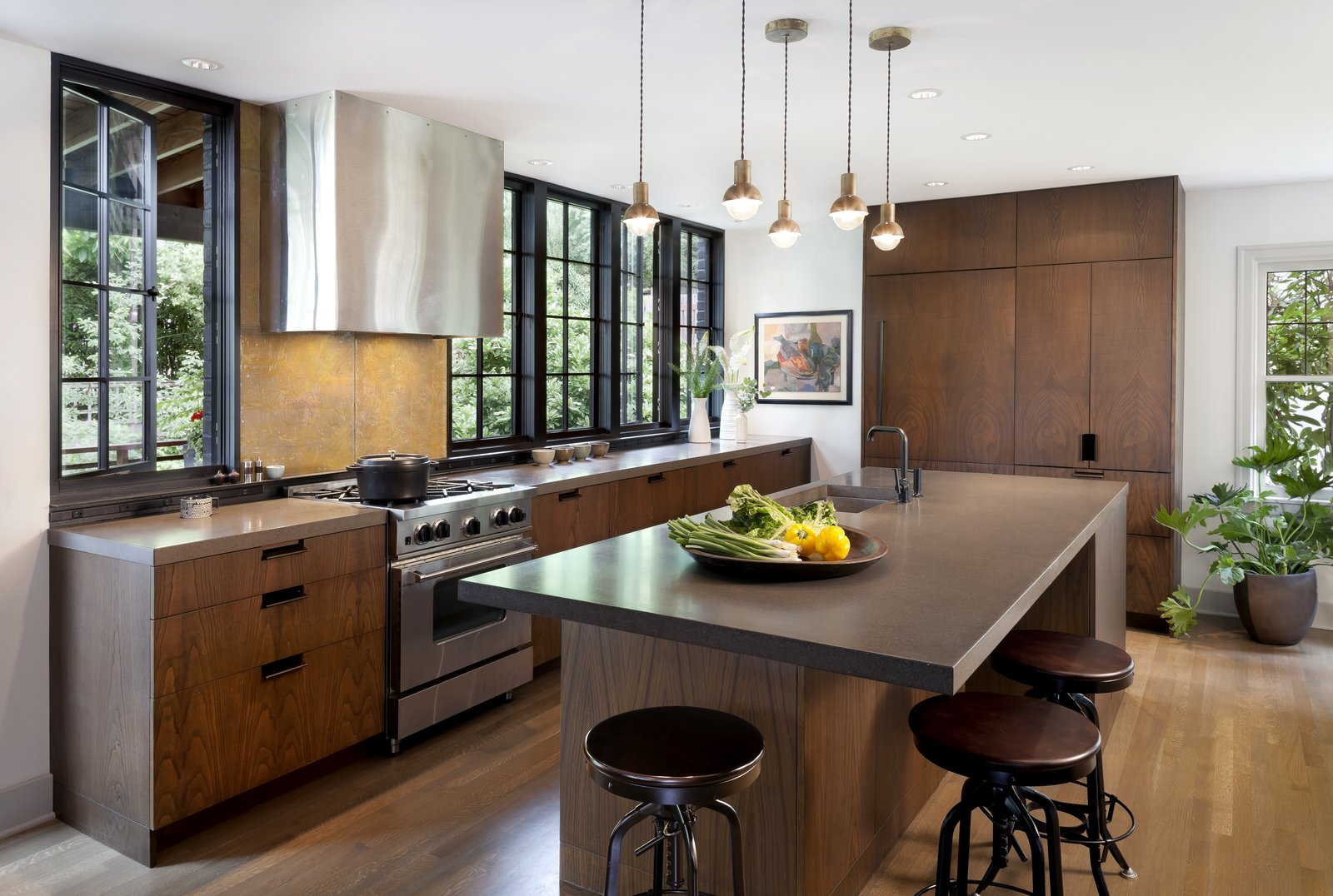 Kitchen Cabinets With Wood Floor
