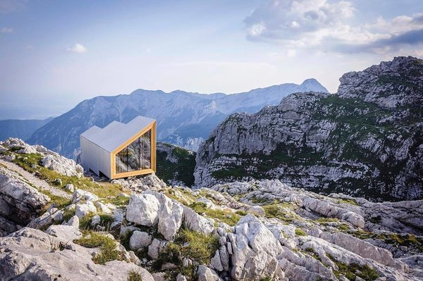 Alpine shelter on Mount Skuta.