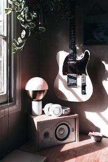 The mini music studio.