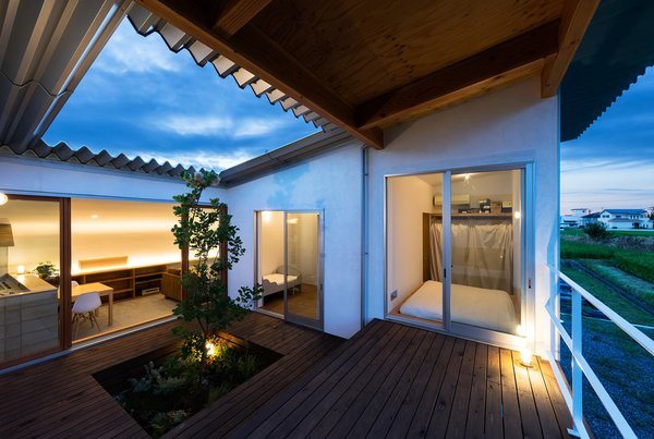 The courtyard was created to be a gathering space where all rooms meet.