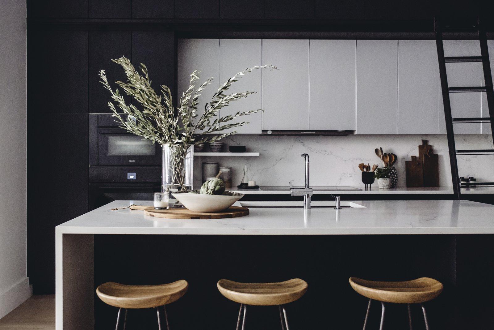 SoHo loft Caesarstone kitchen