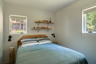 Page made the headboards and shelves out of sugar maple sourced from the property.