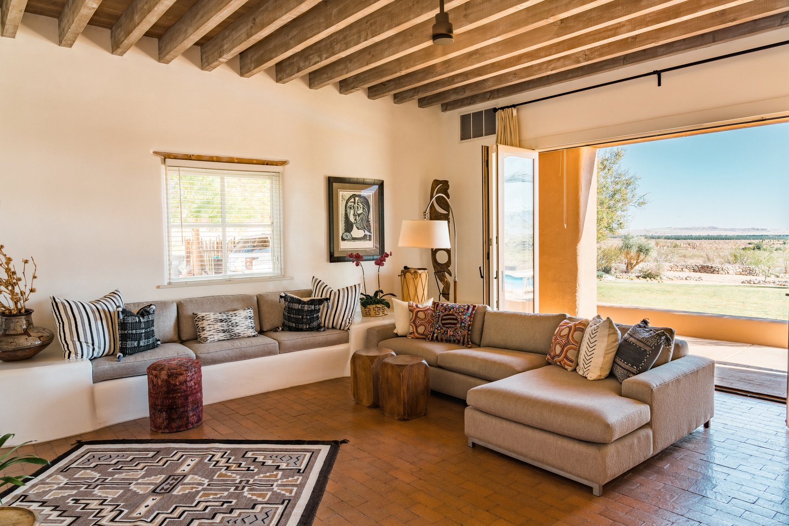 Melissa Young desert hacienda living room