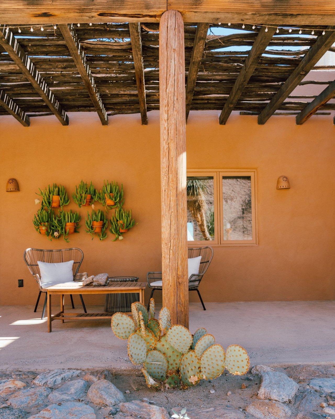Melissa Young desert hacienda outdoor lounge area