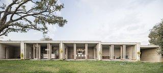 This Catalan Home's Stone Facade Hides a Secret Oasis