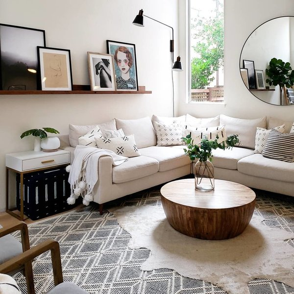A Sloane Interior Define Sofa Wraps Around The Living Room With Jacob Coffee Table From