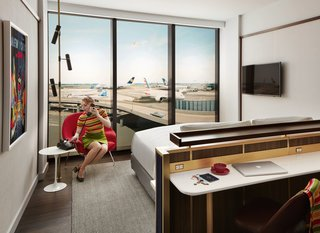Guest rooms at the TWA Hotel have the second-thickest glass in the world.