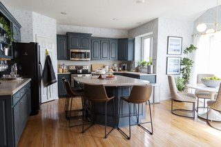 The breakfast nook provides a quiet place for the family to connect in the morning before starting the day.
