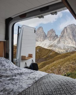 There's no beating this view from bed.