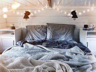 The sleeping loft.