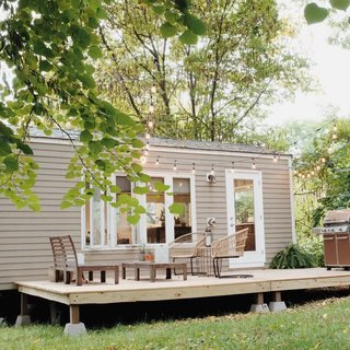 Their home even includes a spacious deck to bask in the sun.