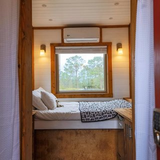 Peeking into the sleeping nook.