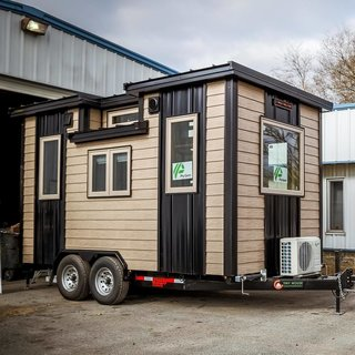 The tiny home, brand new.