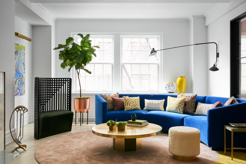 After: Park Avenue Prewar Apartment living room