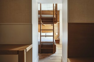 Certain rooms have bunk beds to accommodate groups or families.