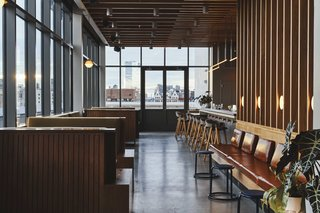 Last Night is permeated with wood slats, creating a warm space to sip and mingle.