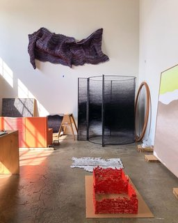 The current state of Mimi Jung's studio.