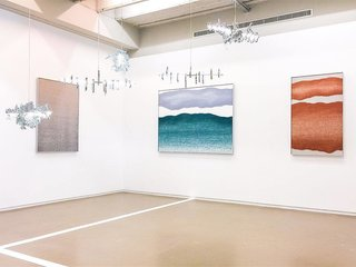 Jung's work at Sight Unseen's booth at Collectible Fair at Espace Vanderborght in Brussels.