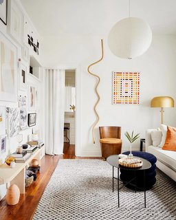 Katie Gong's wood knot in a Los Angeles apartment.