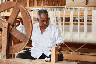Weaving techniques vary from community to community.