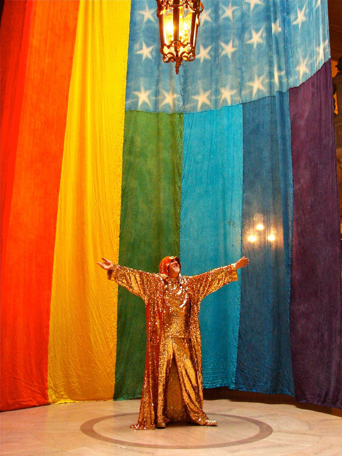 Gilbert Baker at San Francisco City Hall